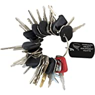 Construction Equipment Master Keys Set-Ignition Key Ring for Heavy Machines, 30 Key Set