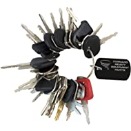 Construction Equipment Master Keys Set-Ignition Key Ring for Heavy Machines, 30 Key Set