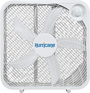 Hurricane Box Fan - 20 Inch, Classic Series, Floor Fan with 3 Energy Efficient Speed Settings, Compact Design, Lightweight...