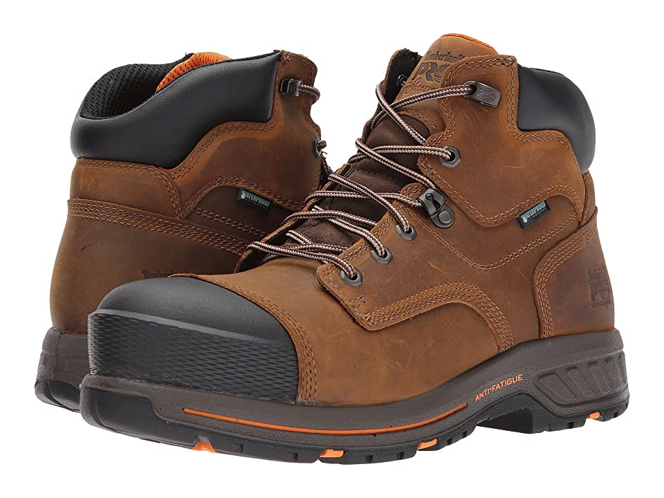 Timberland PRO Helix 6 HD Composite Safety Toe Waterproof BR (Distressed Brown Full Grain Leather) Men