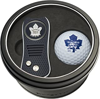 Team Golf NHL Gift Set Switchblade Divot Tool with Double-Sided Magnetic Ball Marker & Golf Ball, Patented Single Prong Design, Less Damage to Greens, Switchblade Mechanism