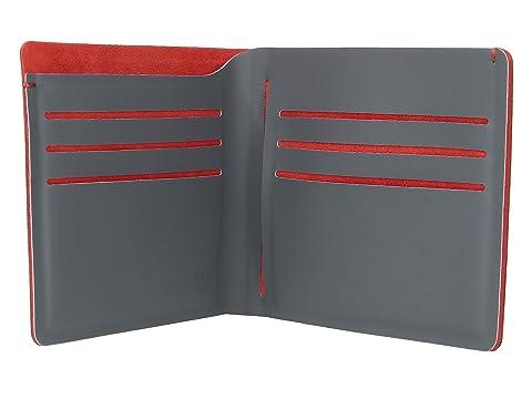 RFIDsafe Pacsafe Billetera plegable azul marino TEC rojo f8w1qgwP