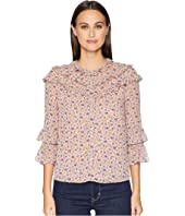 Rebecca Taylor - Long Sleeve Zelma Ruffle Top