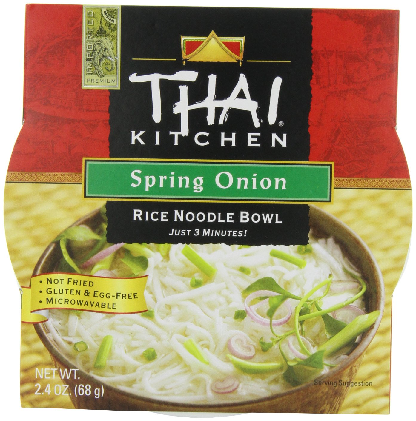 Amazon Com Thai Kitchen Rice Noodle Soup Bowl Spring Onion 2 4 Ounce Pack Of 6 Packaged Asian Dishes Grocery Gourmet Food