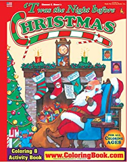 'Twas the Night Before Christmas Really Big Coloring Book (17 x 23)