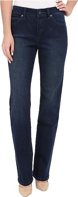 Six-Pocket Abby Straight Leg Jeans in Seattle Blue
