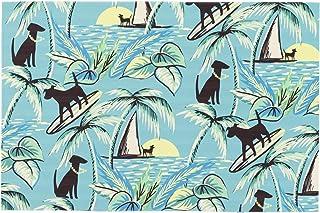 "Liora Manne ILU34329917 Illusions Aloha Dogs Indoor Outdoor Washable Area Rug, 2'5"" x 4'1"", Sunrise"