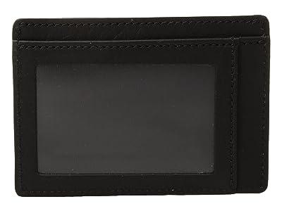 Shinola Detroit Signature Id Card Case (Black) Wallet