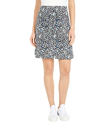 Mod-o-doc Leopard Print French Terry Drawstring Skirt (Heather Grey) Women