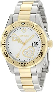 Invicta Womens Quartz Watch, Analog Display and Stainless Steel Strap IN-12287