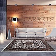 Hind Carpets Kashmiri Design Royal Look Persian Carpet for Your Hall & Living Room with 1 inch Thickness 3 X 5 Feet (90x150 cm) White 8 Multi