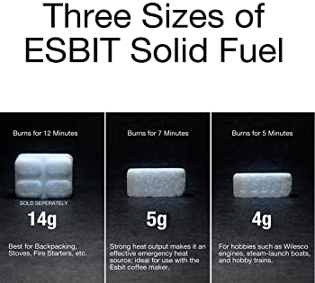 Esbit 1300-Degree Smokeless Solid Fuel Tablets for Hobby, Outdoor, and Emergency Use