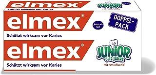 elmex Zahnpasta JUNIOR, Doppelpack (2 x 75 ml) – Zahncreme für Kinder von 6-12..