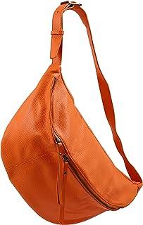 SH Leder echt Leder Damen unisex Brusttasche für Festival Reise gross Hüfttasche Crossbody Bag Frauen Ledertasche 49x28cm ...