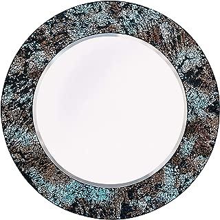 Whole Housewares Mosaic Wall Mirror Decorative Round Wall Mirror Diameter 20