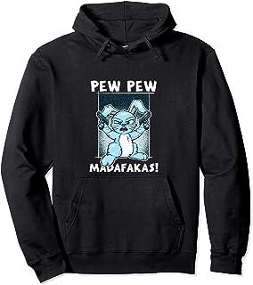 Pew Pew Madafakas Funny Crazy Rabbit Lustiger Hase Geschenk Pullover Hoodie
