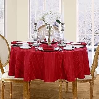 Newbridge Christmas Satin Stripe No-Iron Soil Resistant Fabric Holiday Tablecloth, 60