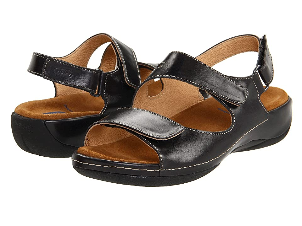 Wolky Liana (Black Smooth Leather) Women