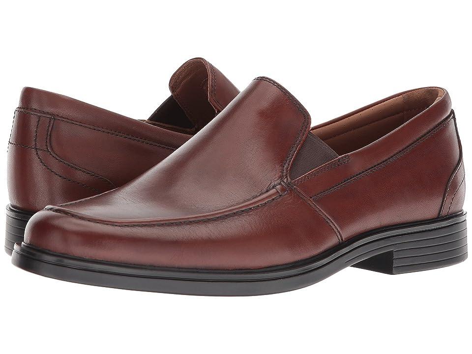 Clarks UnAldric Slip (Dark Tan Leather) Men