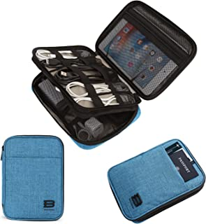 BAGSMART Electronic Organizer Double-Layer Travel Cable Organizer Electronics Accessories Cases for Cables, iPhone, Kindle...