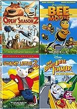 Little Bee Toaster Mouse Fun Cartoon Tales Disney Brave Little Toaster to The Rescue & Bee Movie Dreamworks + Open Season & Stuart Little DVD Animated kids fun 4 pack