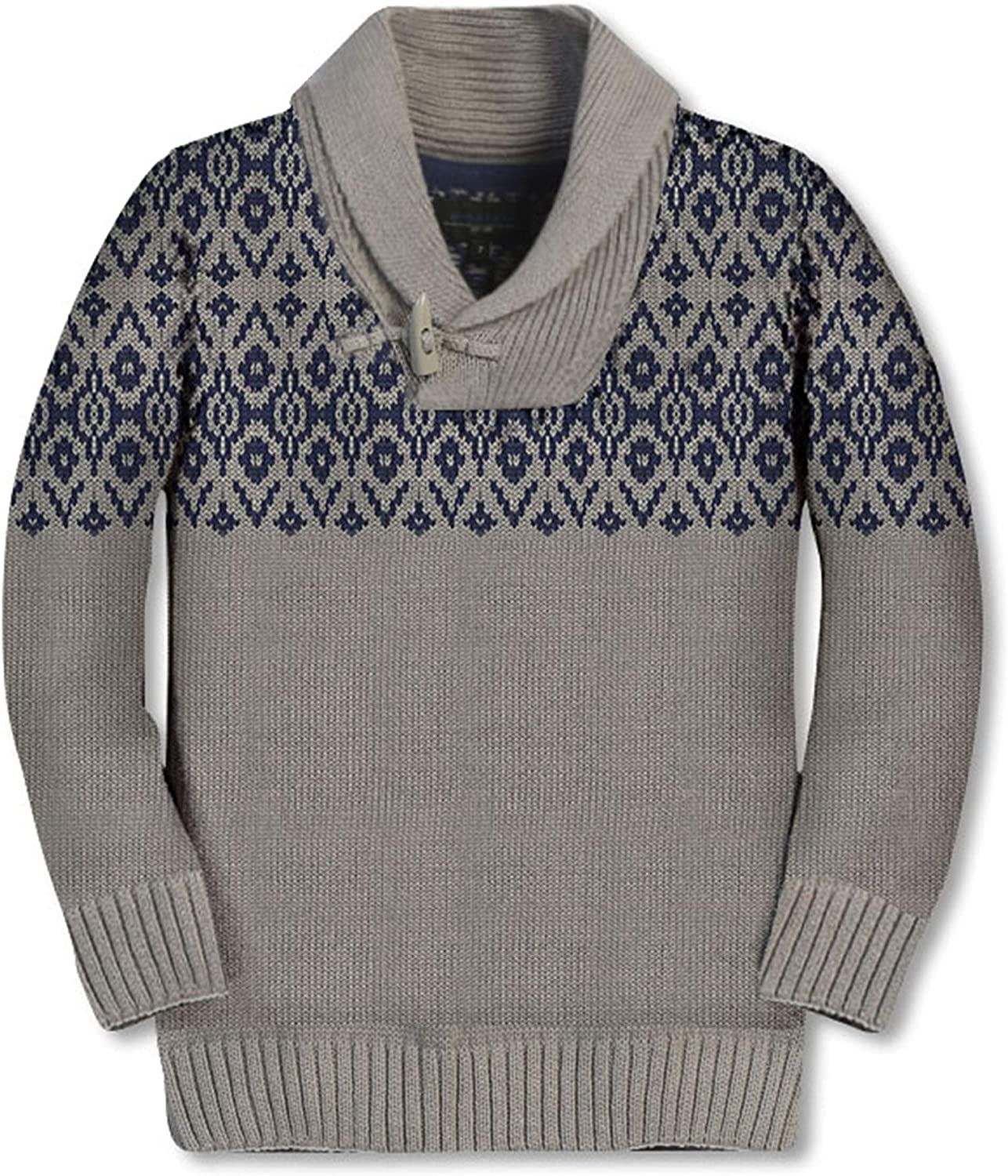 Gioberti Kids and Boys 100% Cotton Pullover Knitted Sweater with Toggle Button Closure