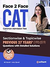 Face To Face CAT 27 years Sectionwise & Topicwise solved paper 2020
