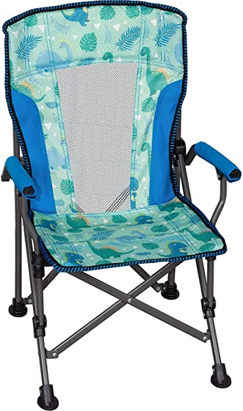 Member S Mark Kids Folding Portable Light Weight Arm Chair With Matching Storage Bag Carrying Strap Dinosaur