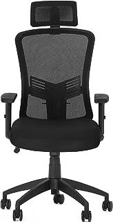 YITAHOME Chaise de bureau ergonomique avec dossier haut rembourré en maille filet avec appui-tête, accoudoirs réglables, s...