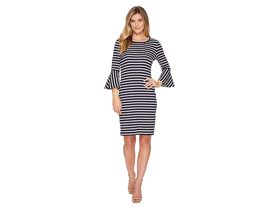 Karen Kane Flare Sleeve Stripe Dress (Stripe) Women