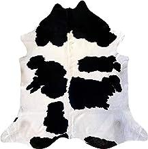 Tapijt van echt rundleer, model Mukato, afmetingen ca. 230 x 210 cm, rundleer, premium 100% natuur voor woonkamer, slaapka...