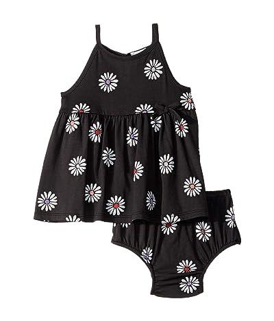 Splendid Littles Daisy Print Dress Set (Infant) (Washed Black) Girl
