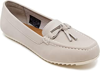 Nautica Women's Beckington Loafer with Braided Buckle Fashion Shoe