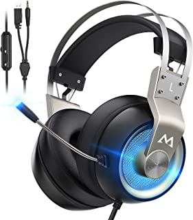Best Mpow Gaming Headset Xbox One Headset with 7.1 Surround Sound, PC PS4 Headset with Noise Canceling Mic & LED Light, Compatible with PC, PS4, PS5, Switch, Xbox One Controller (EG3 Pro) Review