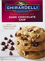 Ghirardelli Premium Cookie Mix, Dark Chocolate Chip, 16.75-Ounce Boxes