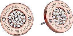 Michael Kors - Logo with Clear Pavé Center Stud Earring