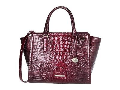 Brahmin Melbourne Aubree Satchel (Infrared) Handbags