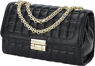 Women's Classic Quilted Crossbody Purse Shoulder Bags Golden Chain Satchel Handbags