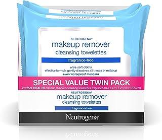 Neutrogena Blue Line 卸妆湿巾,每包 50 张 - 每箱 12 包