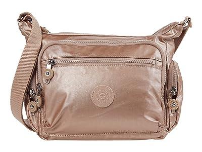 Kipling Gabbie Small Crossbody Bag (Rose Gold Metallic) Handbags