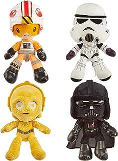 Star Wars Hoth Battle - Juego de 4 muñecas suaves con personajes de 8 pulgadas, Luke Skywalker, Darth Vader, C-3PO & Stormtrooper, regalo de película coleccionable para aficionados a partir de 3 años