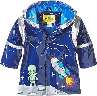 Kidorable Blue Space Hero All-Weather Raincoat for Boys w/Fun Spaceship Pocket, Astronaut Helmet