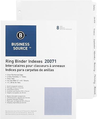 Business Source 3 ng Plain Tab Indizes, 8–1 10,2  breit Tab