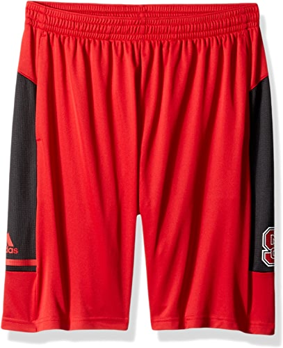 Adidas NCAA North voitureolina State Wolfpack Adult Hommes NCAA Sideline courtes, grand, Power rouge