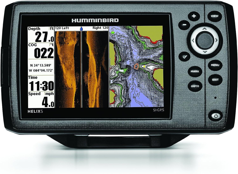 Humminbird 409640–1Helix 5SI Echolot mit Side-Imaging-Technik und GPS