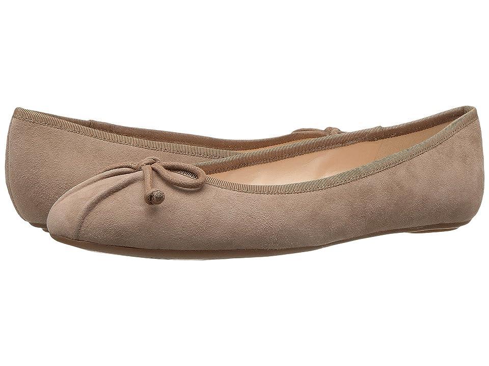 Nine West Batoka Ballerina Flat (Dark Natural/Dark Natural Suede) Women