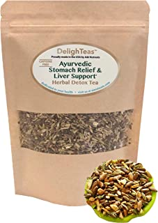 Ayurvedic Detox tea - Stomach Relief & Liver Cleansing - Organic Loose Leaf Milk Thistle Tea with Fennel, Ginger, Peppermi...