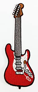 Electric Guitar Music DIY Applique Embroidered Sew Iron on Patch p#50