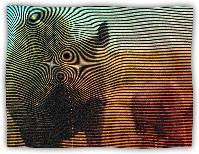 Kess InHouse Danny Ivan Abstract Rhino Pet Blanket, 40 by 30Inch