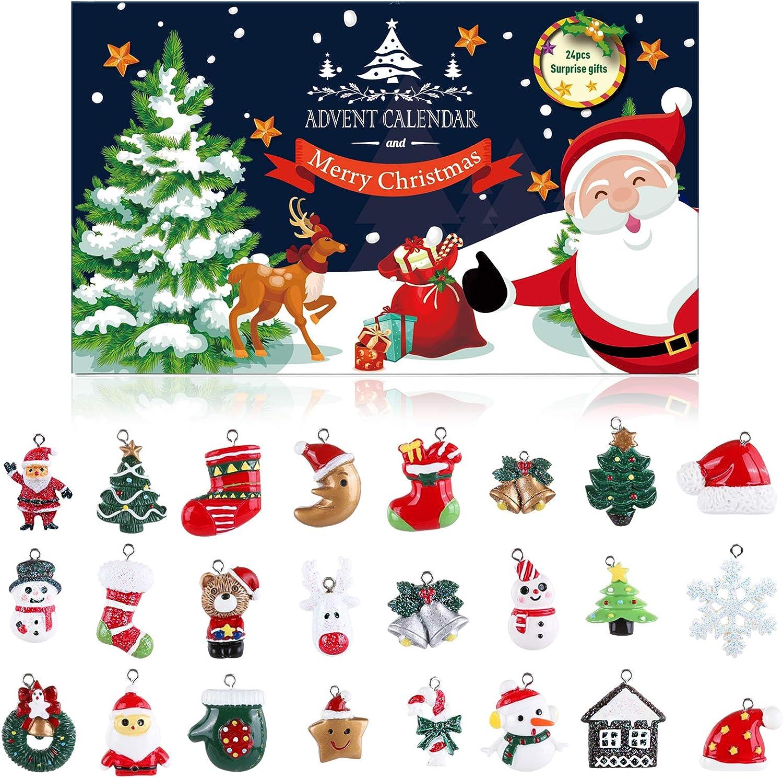 Naler 24 Teilig Weihnachtsanhänger Weihnachtsdeko Christbaumschmuck Adventskalender Set Für Weihnachten